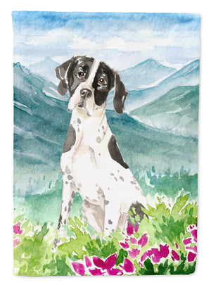 Buy this Mountain Flowers English Pointer Flag Garden Size CK2538GF