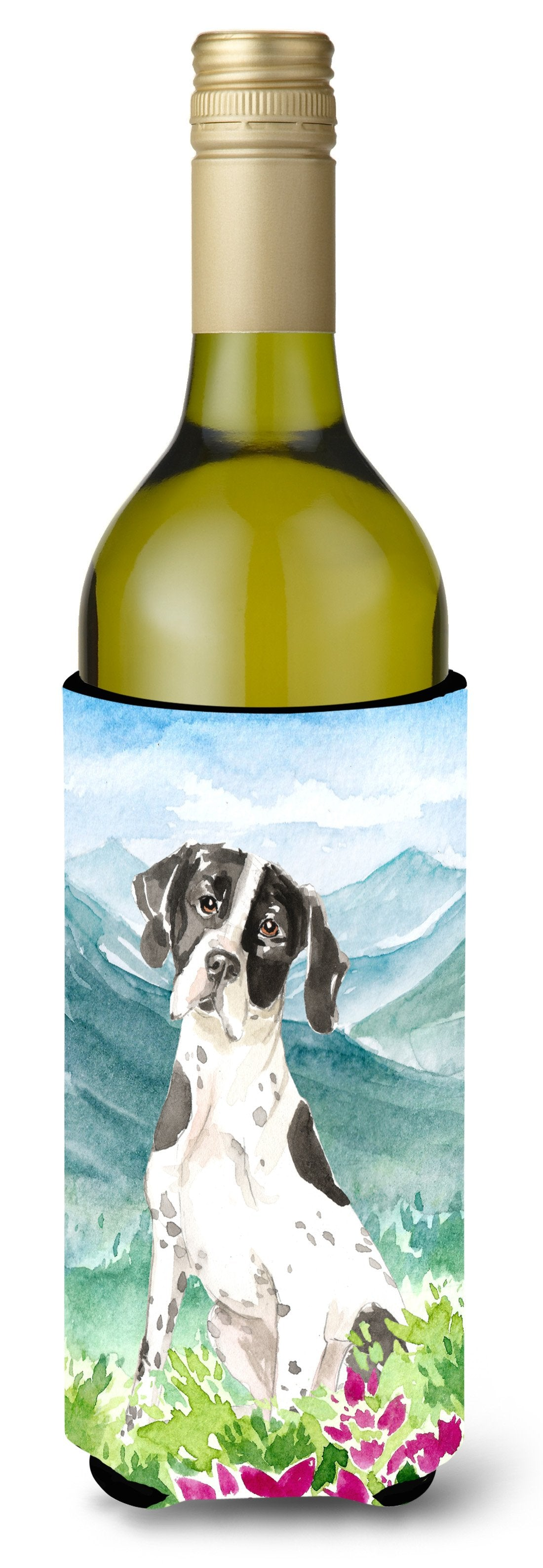 Buy this Mountain Flowers English Pointer Wine Bottle Beverage Insulator Hugger CK2538LITERK