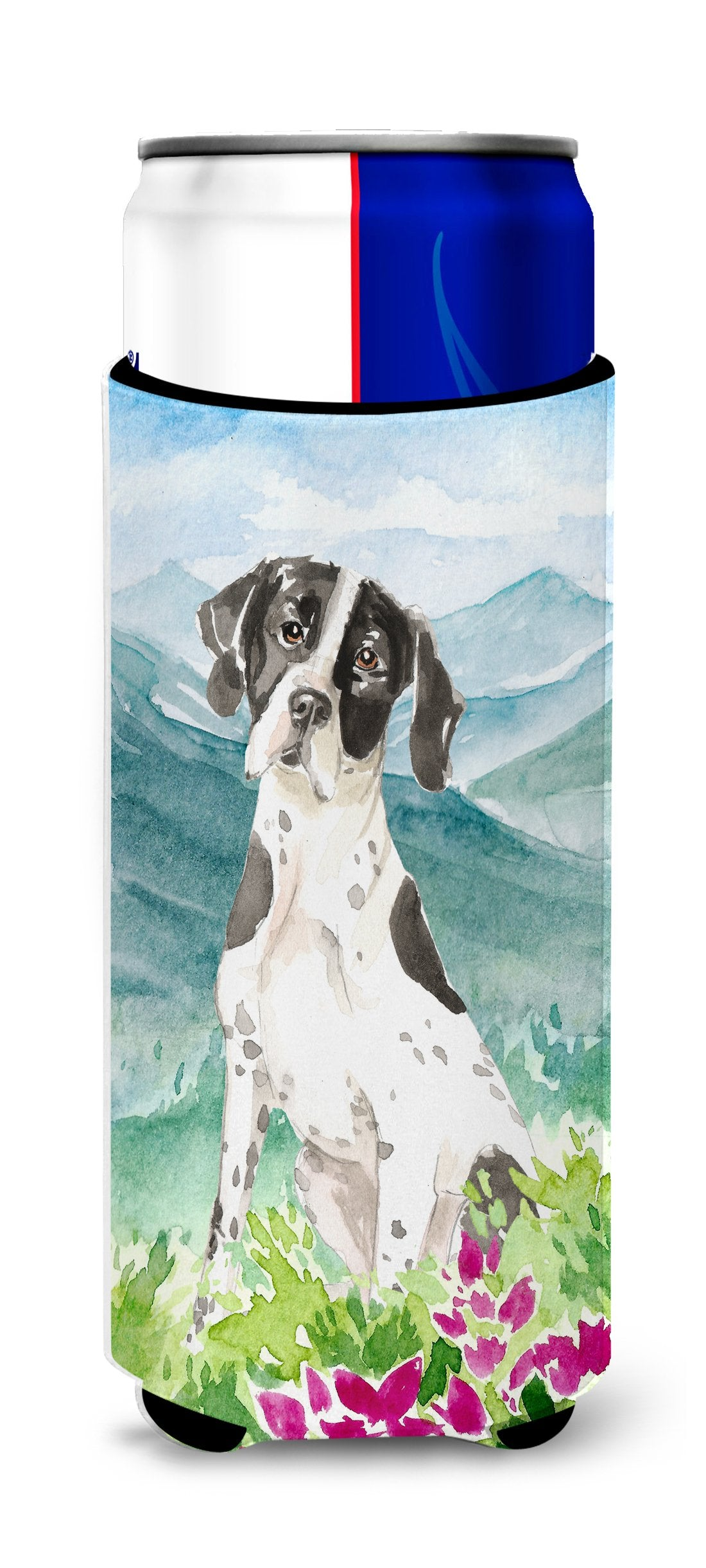 Buy this Mountain Flowers English Pointer Michelob Ultra Hugger for slim cans CK2538MUK