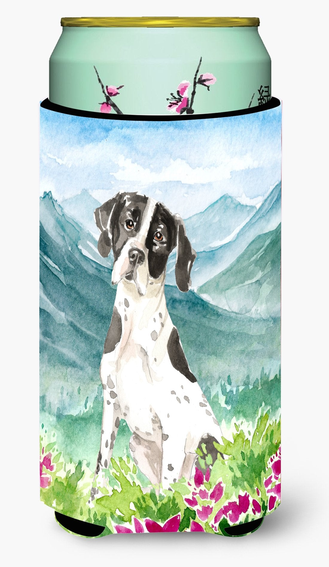 Mountain Flowers English Pointer Tall Boy Beverage Insulator Hugger CK2538TBC by Caroline's Treasures