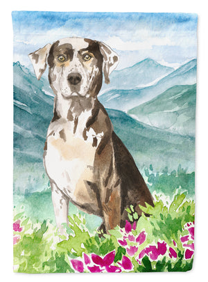 Buy this Mountain Flowers Catahoula Leopard Dog Flag Canvas House Size CK2540CHF