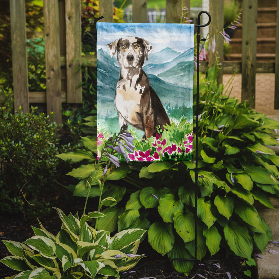 Buy this Mountain Flowers Catahoula Leopard Dog Flag Garden Size CK2540GF