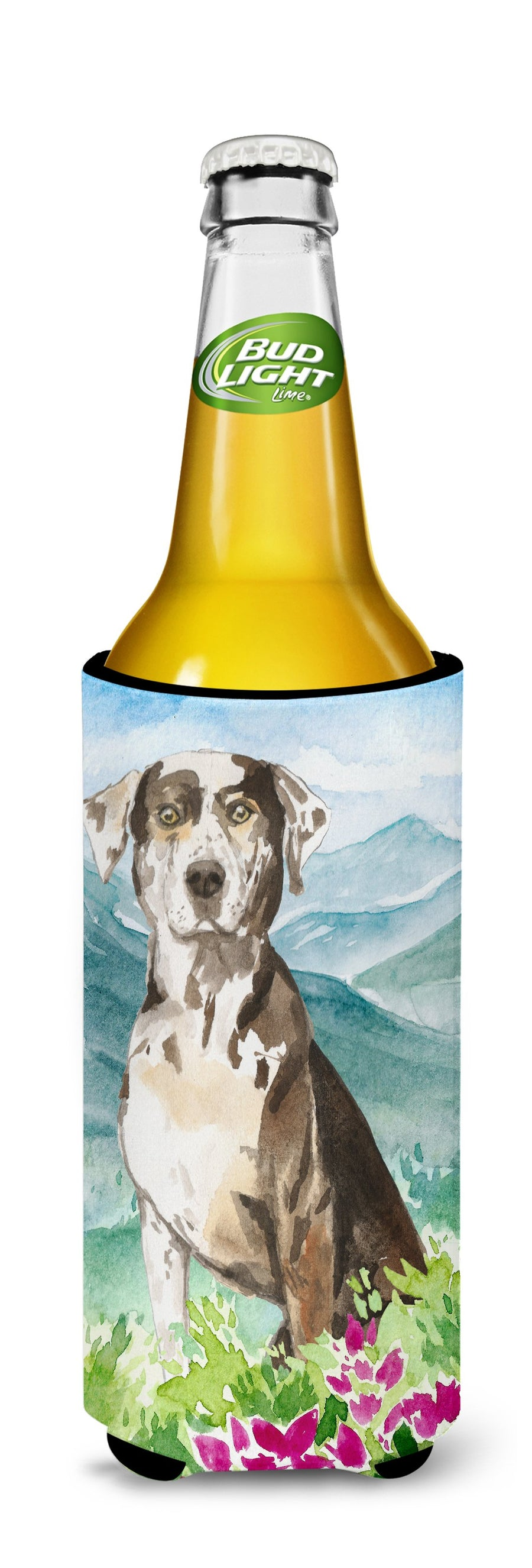 Buy this Mountain Flowers Catahoula Leopard Dog Michelob Ultra Hugger for slim cans CK2540MUK