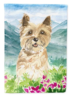 Buy this Mountain Flowers Cairn Terrier Flag Canvas House Size CK2541CHF