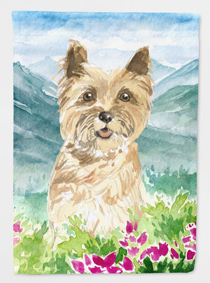 Buy this Mountain Flowers Cairn Terrier Flag Garden Size CK2541GF