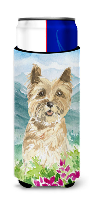 Buy this Mountain Flowers Cairn Terrier Michelob Ultra Hugger for slim cans CK2541MUK