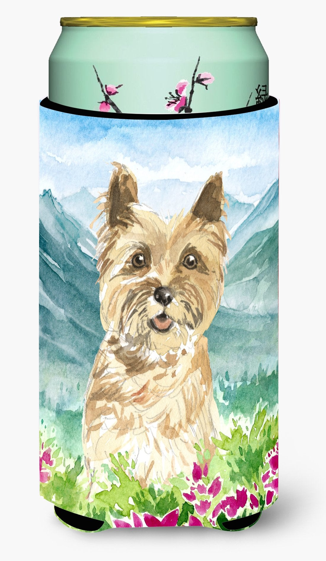 Buy this Mountain Flowers Cairn Terrier Tall Boy Beverage Insulator Hugger CK2541TBC