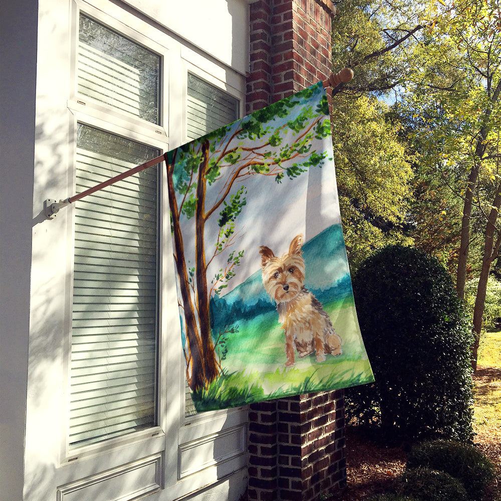 Under the Tree Yorkie Yorkshire Terrier Flag Canvas House Size CK2549CHF by Caroline's Treasures