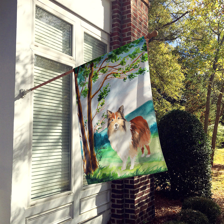 Buy this Under the Tree Sheltie Flag Canvas House Size CK2558CHF