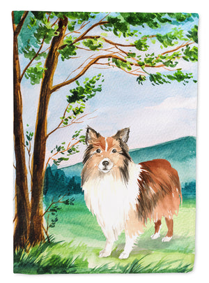 Buy this Under the Tree Sheltie Flag Garden Size CK2558GF