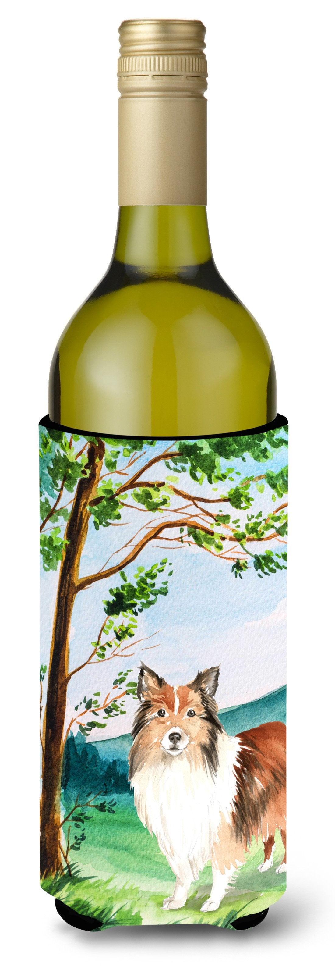Buy this Under the Tree Sheltie Wine Bottle Beverage Insulator Hugger CK2558LITERK