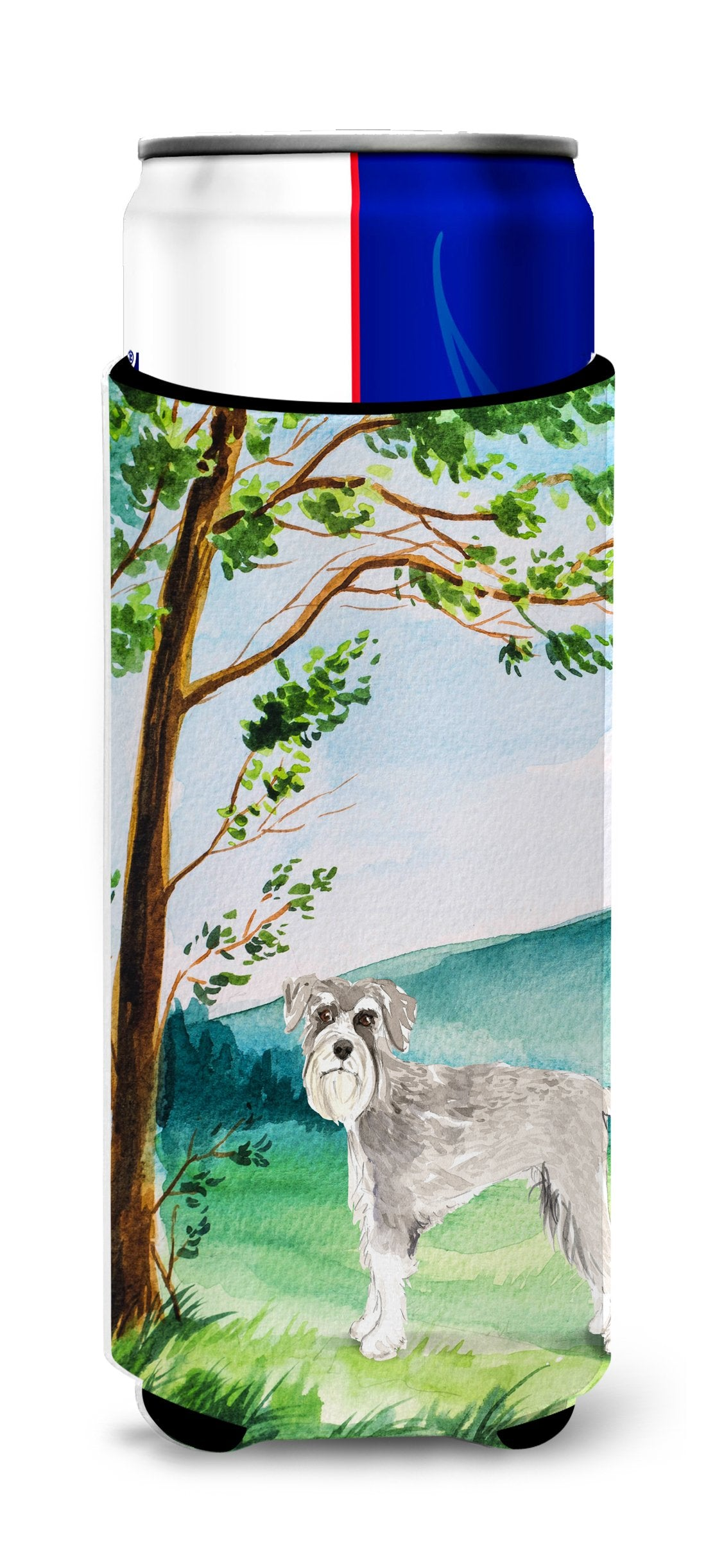 Under the Tree Schnauzer #1 Michelob Ultra Hugger for slim cans CK2560MUK by Caroline's Treasures