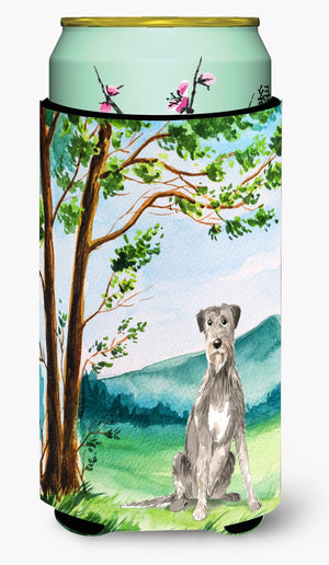 Buy this Under the Tree Irish Wolfhound Tall Boy Beverage Insulator Hugger CK2570TBC