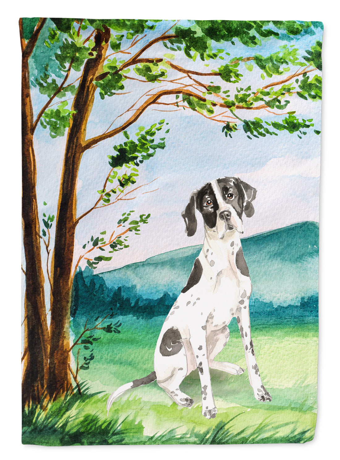 Buy this Under the Tree English Pointer Flag Canvas House Size CK2574CHF