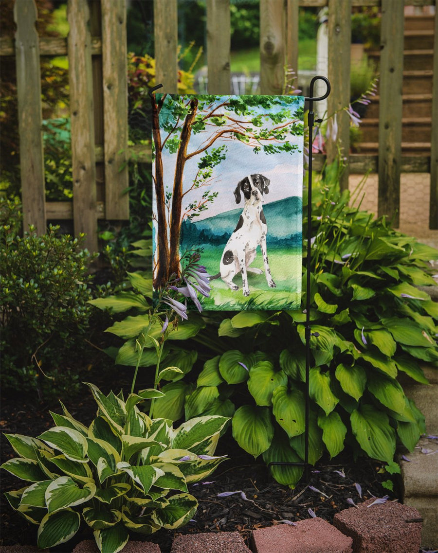 Buy this Under the Tree English Pointer Flag Garden Size CK2574GF