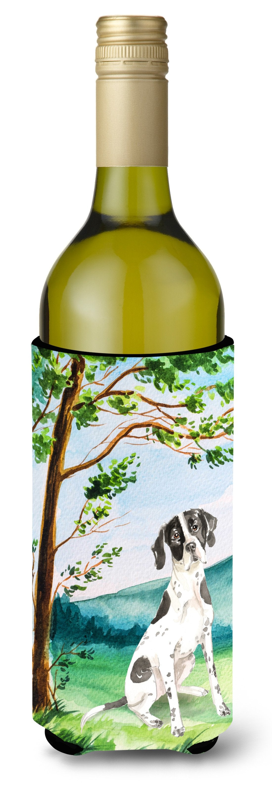 Buy this Under the Tree English Pointer Wine Bottle Beverage Insulator Hugger CK2574LITERK