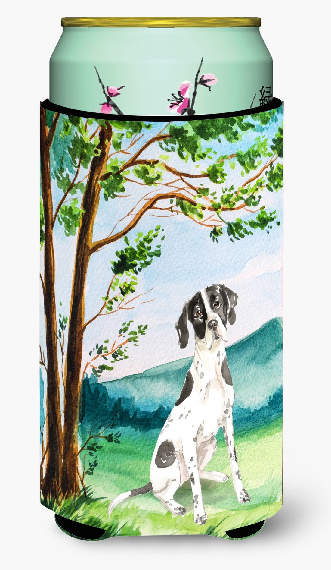 Under the Tree English Pointer Tall Boy Beverage Insulator Hugger CK2574TBC by Caroline's Treasures