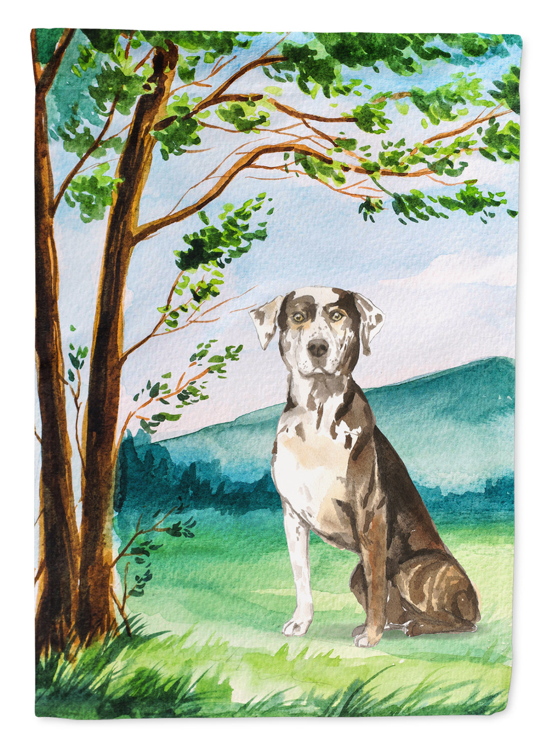 Buy this Under the Tree Catahoula Leopard Dog Flag Canvas House Size CK2576CHF