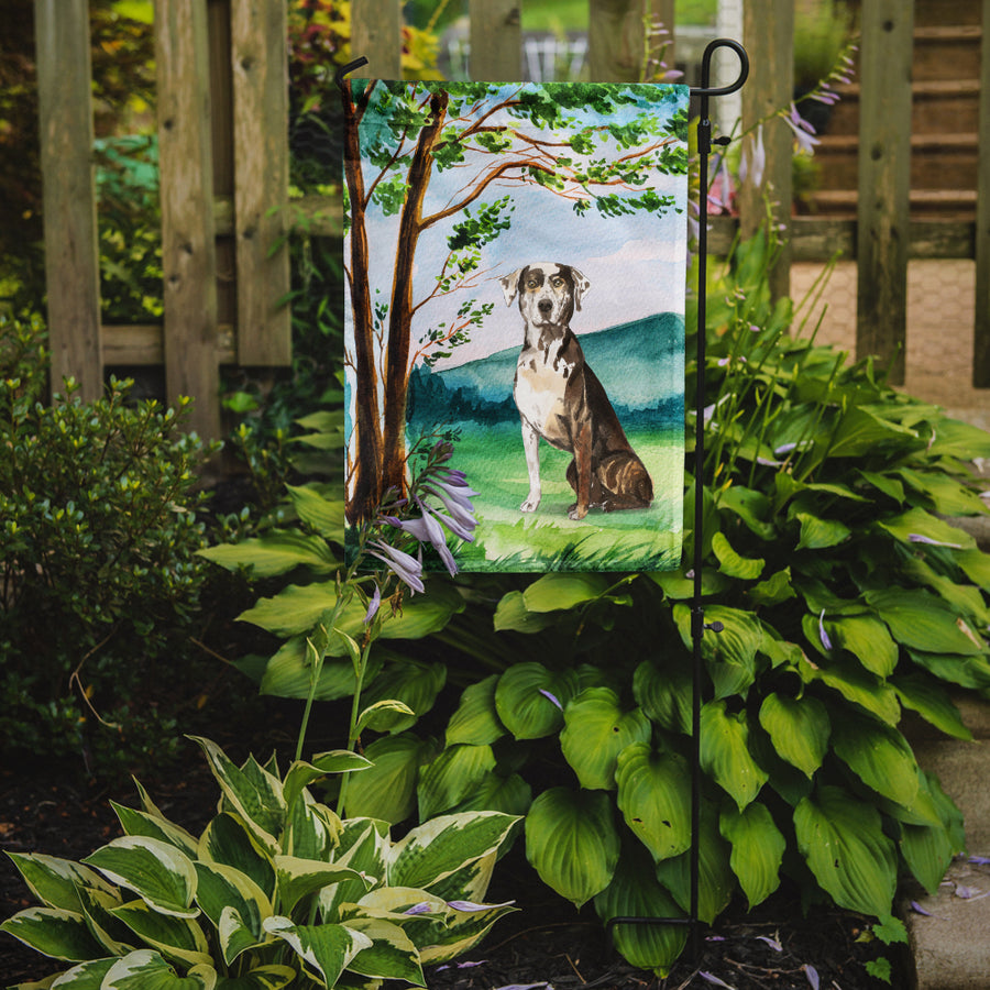 Buy this Under the Tree Catahoula Leopard Dog Flag Garden Size CK2576GF