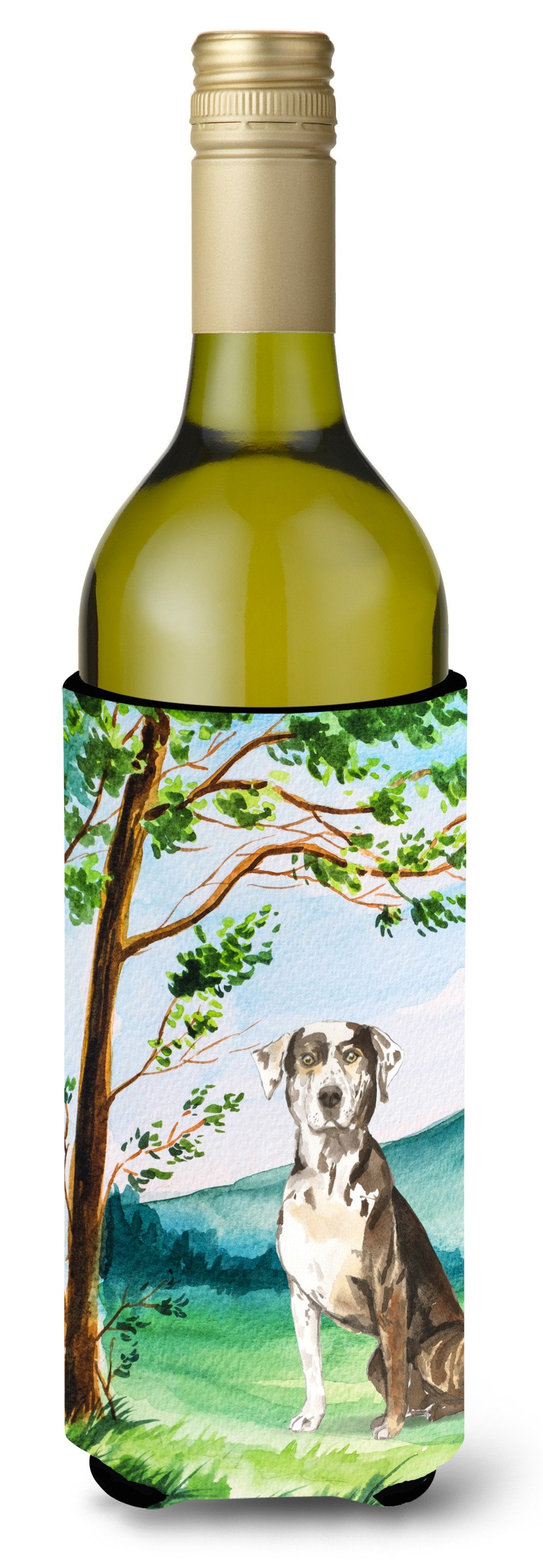 Buy this Under the Tree Catahoula Leopard Dog Wine Bottle Beverage Insulator Hugger CK2576LITERK