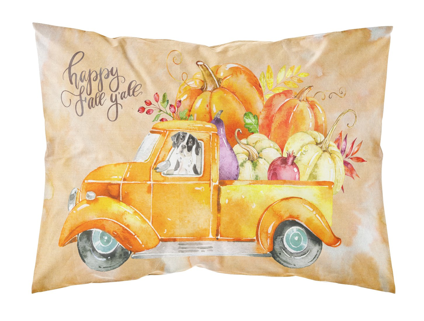 Buy this Fall Harvest English Pointer Fabric Standard Pillowcase CK2617PILLOWCASE