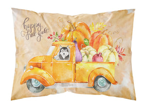 Buy this Fall Harvest Alaskan Malamute Fabric Standard Pillowcase CK2625PILLOWCASE