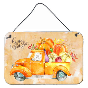 Buy this Fall Harvest Maltese Wall or Door Hanging Prints CK2626DS812
