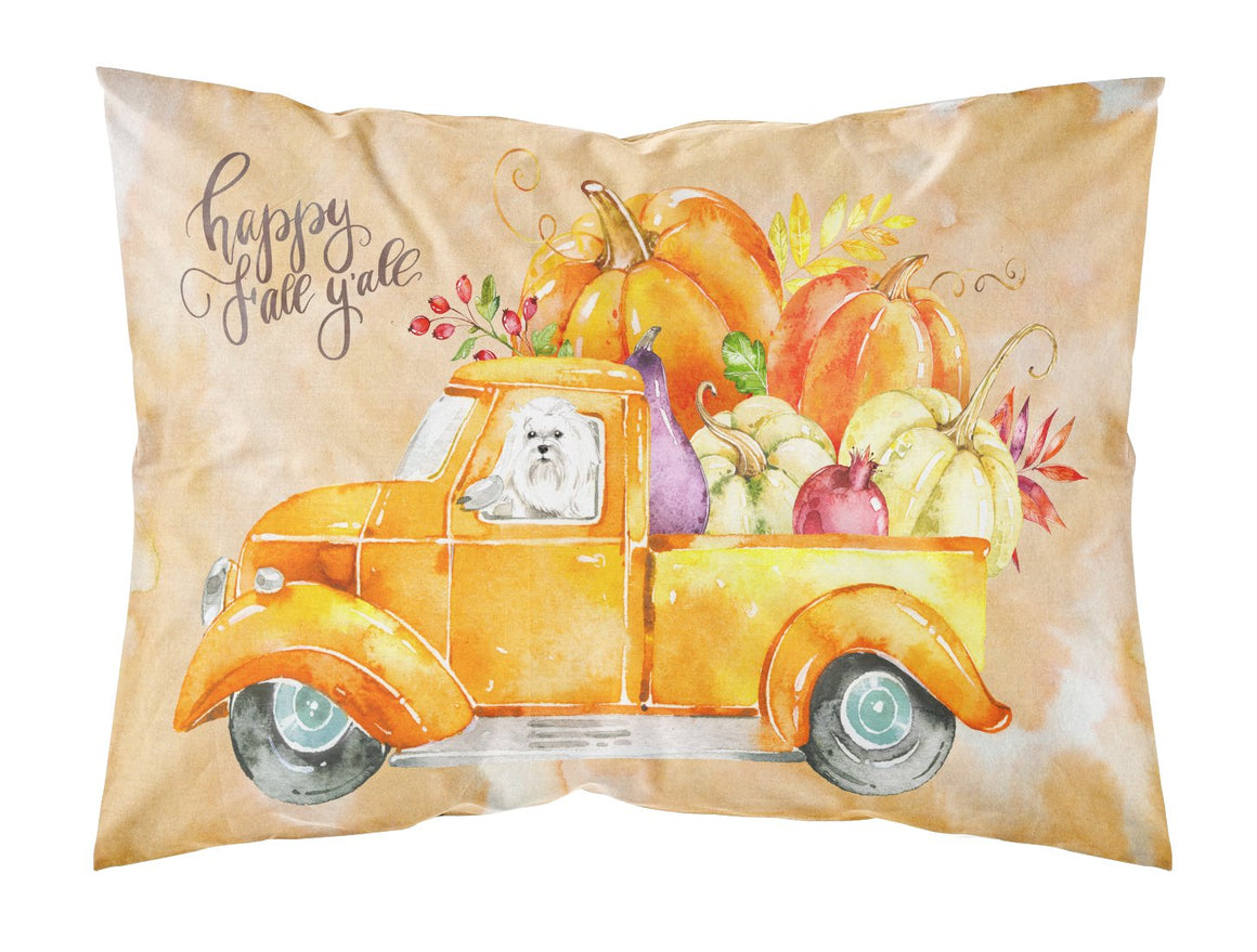 Buy this Fall Harvest Maltese Fabric Standard Pillowcase CK2626PILLOWCASE