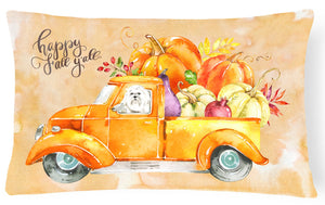 Buy this Fall Harvest Maltese Canvas Fabric Decorative Pillow CK2626PW1216