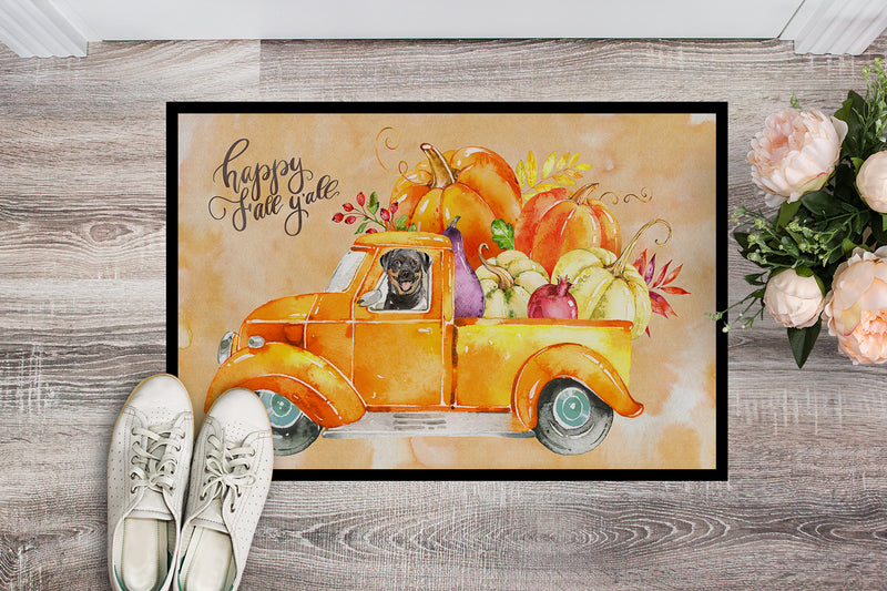 Buy this Fall Harvest Rottweiler Indoor or Outdoor Mat 18x27 CK2629MAT