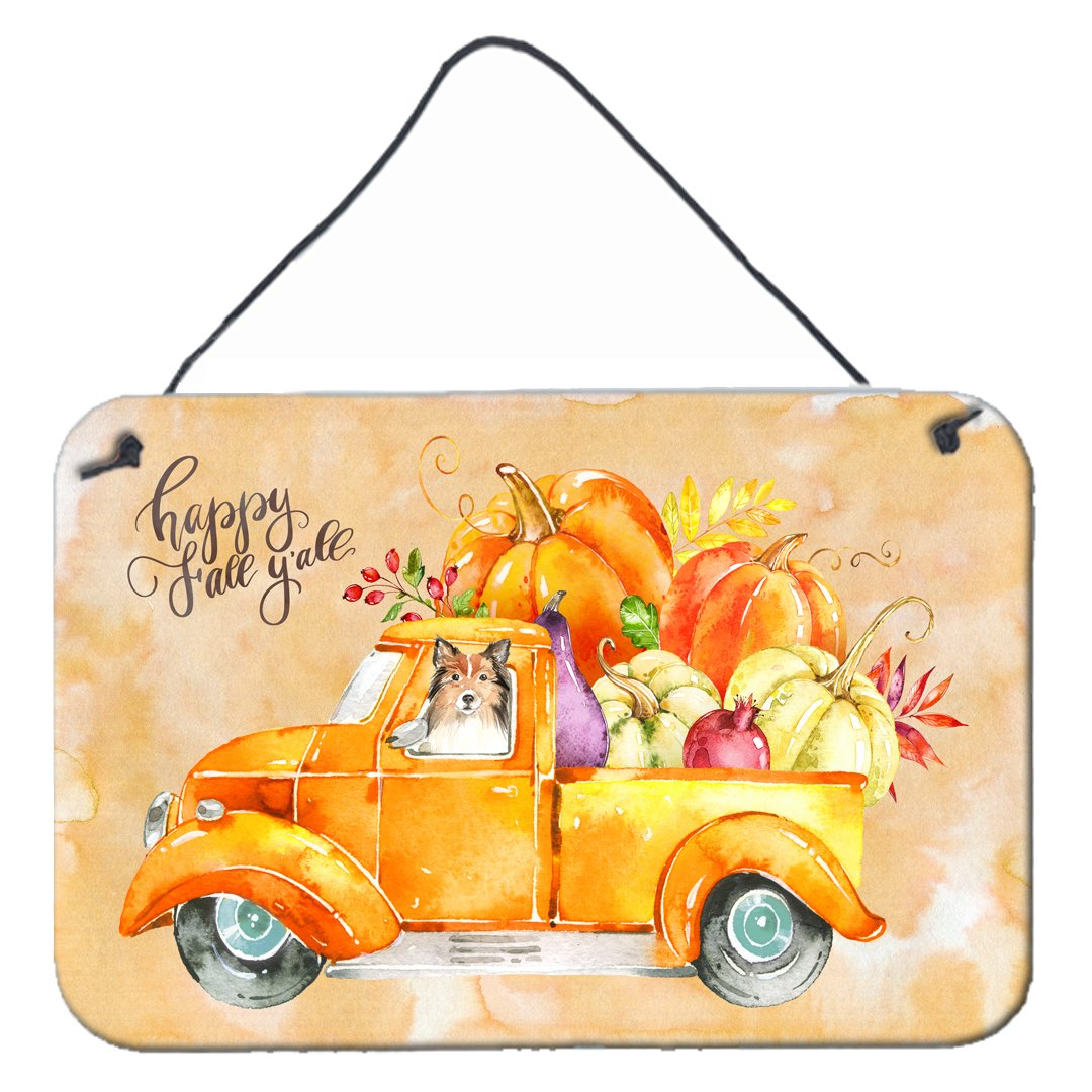Buy this Fall Harvest Sheltie Wall or Door Hanging Prints CK2633DS812