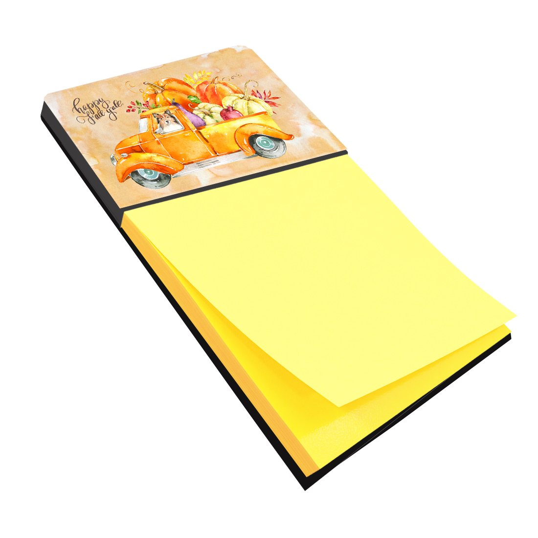 Buy this Fall Harvest Sheltie Sticky Note Holder CK2633SN