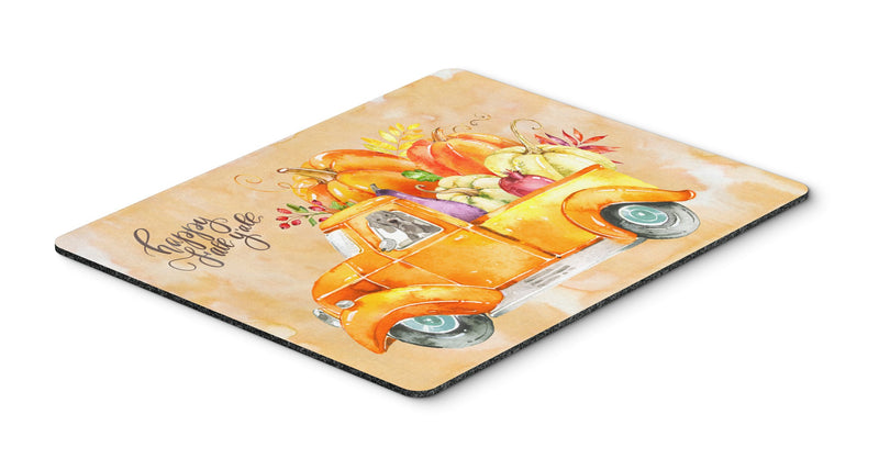 Buy this Fall Harvest Weimaraner Mouse Pad, Hot Pad or Trivet CK2638MP