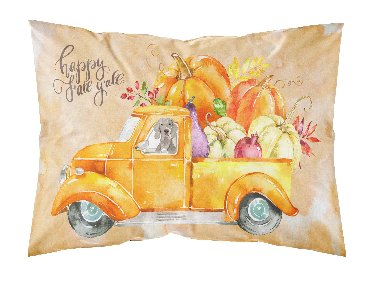 Buy this Fall Harvest Weimaraner Fabric Standard Pillowcase CK2638PILLOWCASE