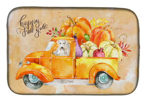 Buy this Fall Harvest Wheaten Terrier Dish Drying Mat CK2640DDM