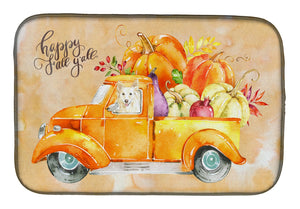 Buy this Fall Harvest White Collie Dish Drying Mat CK2641DDM