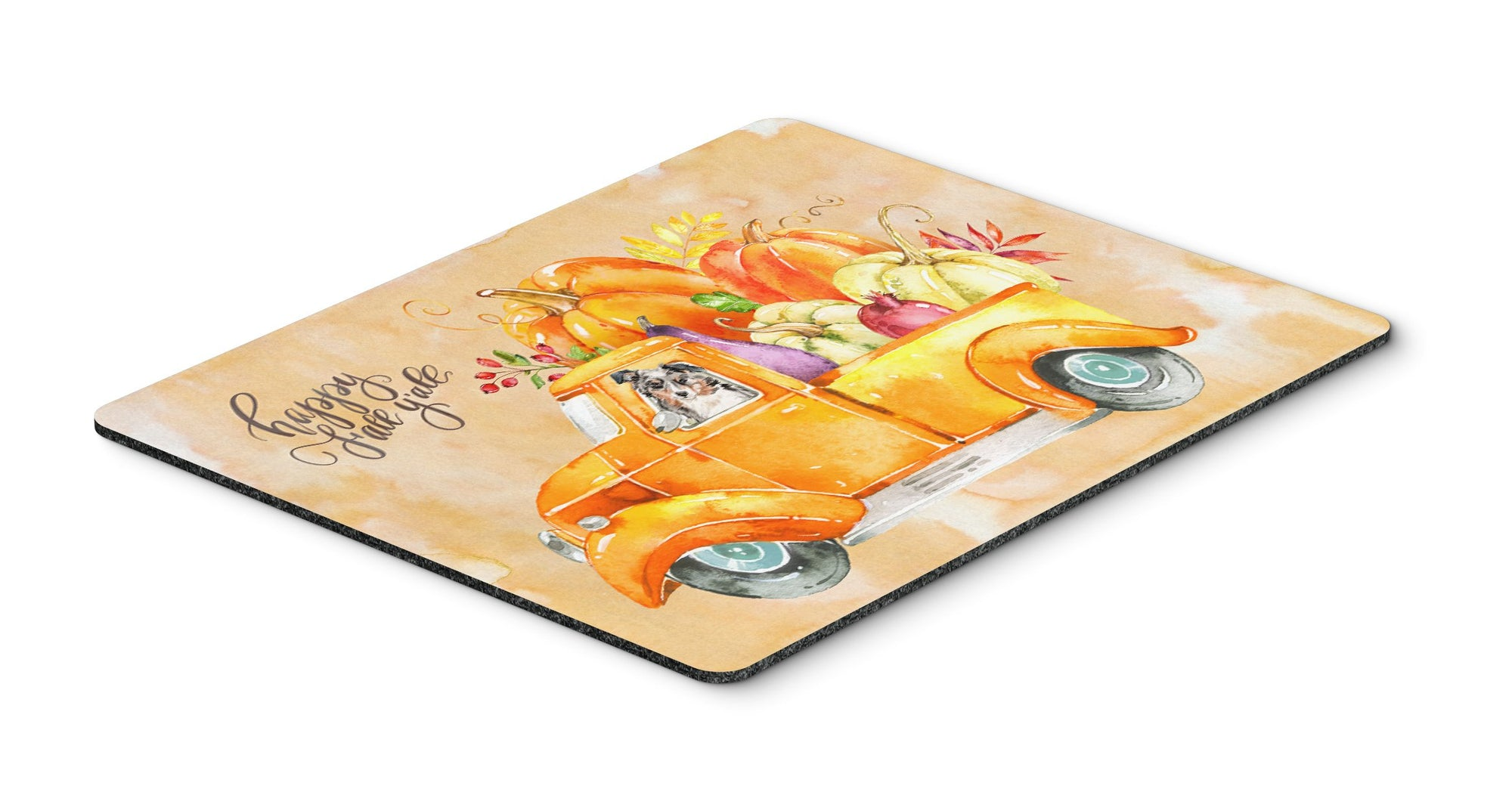 Buy this Fall Harvest Australian Shepherd Mouse Pad, Hot Pad or Trivet CK2646MP