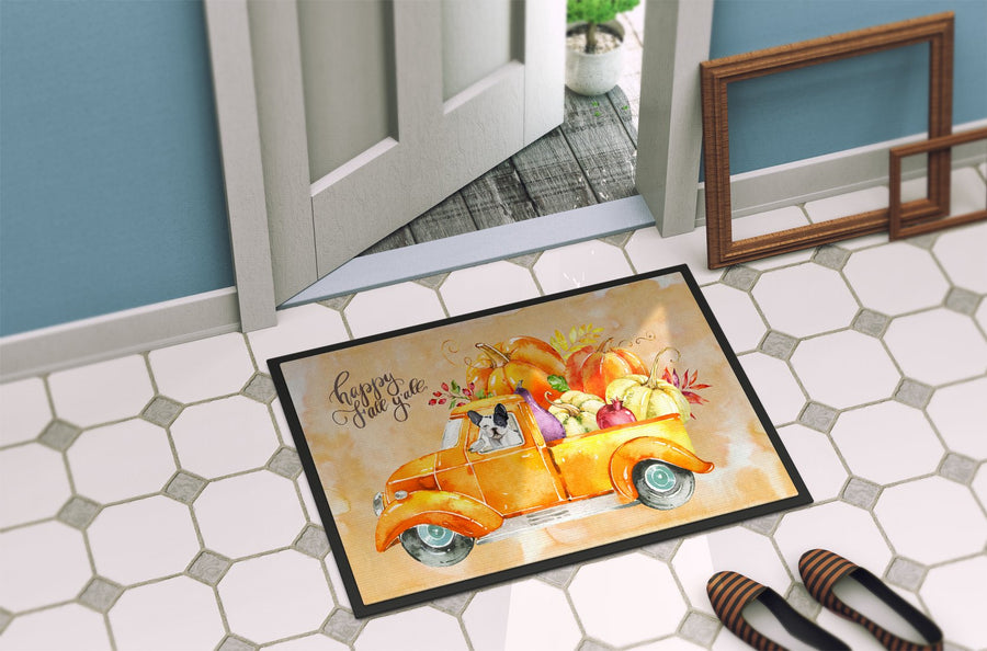 Buy this Fall Harvest French Bulldog Indoor or Outdoor Mat 24x36 CK2656JMAT