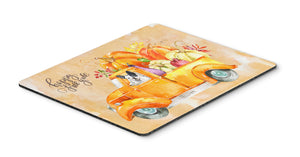 Buy this Fall Harvest French Bulldog Mouse Pad, Hot Pad or Trivet CK2656MP