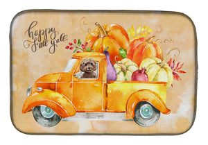 Buy this Fall Harvest Brown Cockapoo Dish Drying Mat CK2658DDM