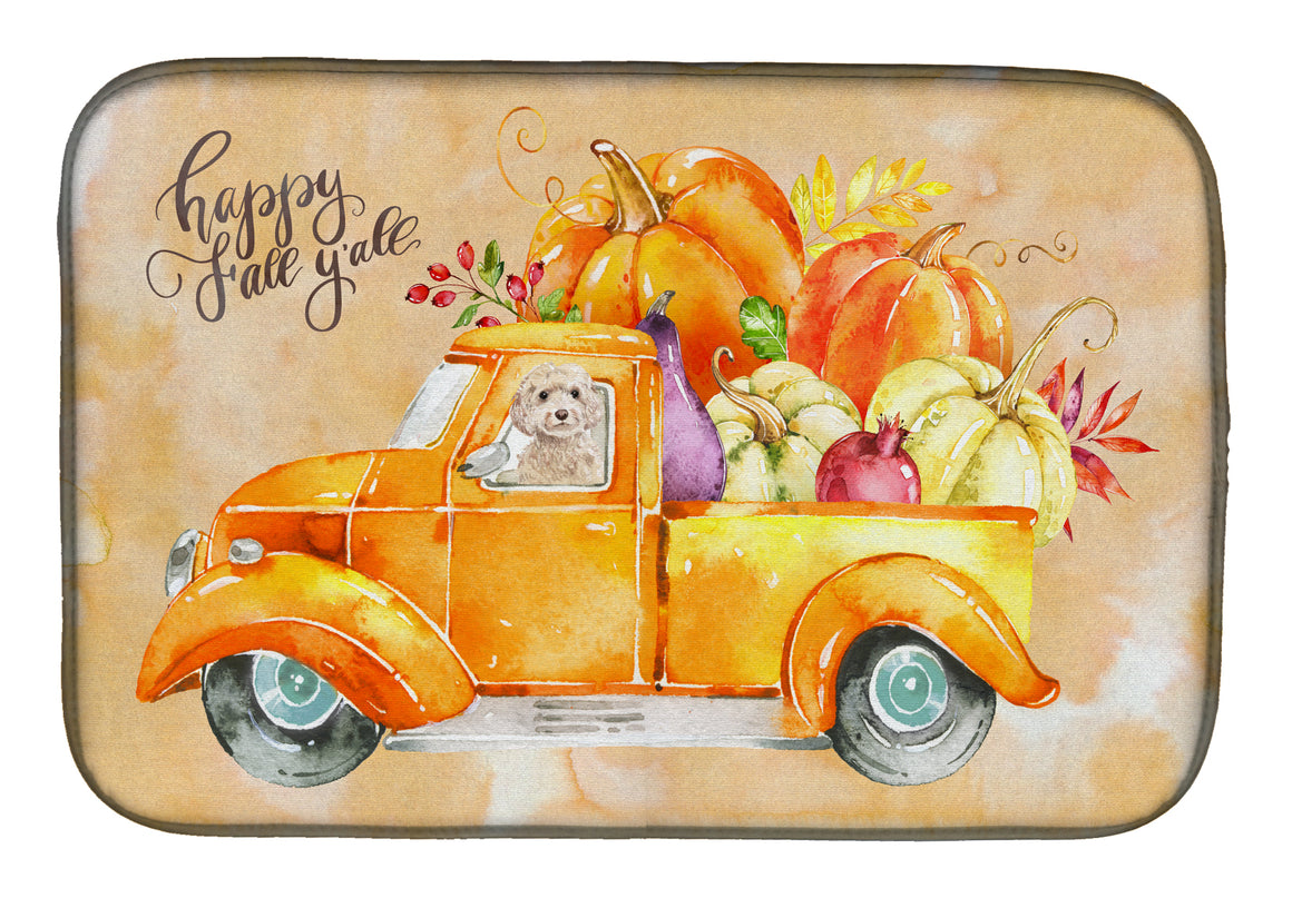 Buy this Fall Harvest Champagne Cockapoo Dish Drying Mat CK2660DDM