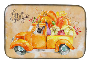 Buy this Fall Harvest Fawn French Bulldog Dish Drying Mat CK2666DDM