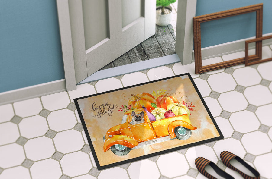 Buy this Fall Harvest Fawn French Bulldog Indoor or Outdoor Mat 24x36 CK2666JMAT