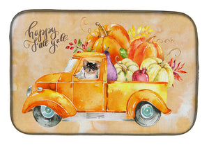 Buy this Fall Harvest Long Haired Chihuahua Dish Drying Mat CK2672DDM