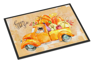 Buy this Fall Harvest Long Haired Chihuahua Indoor or Outdoor Mat 24x36 CK2672JMAT
