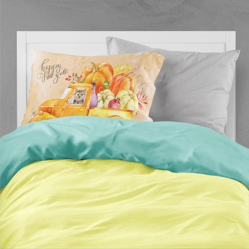Buy this Fall Harvest Norwich Terrier Fabric Standard Pillowcase CK2673PILLOWCASE