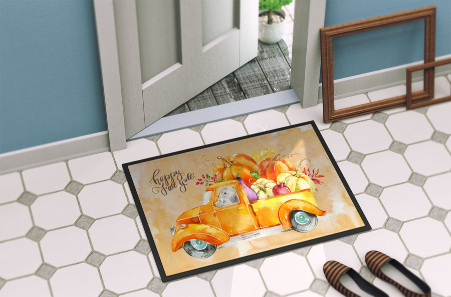 Buy this Fall Harvest White Poodle Indoor or Outdoor Mat 24x36 CK2678JMAT