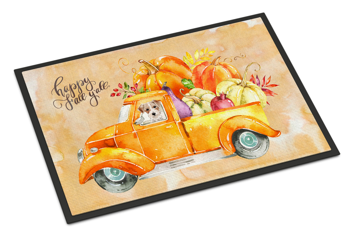 Buy this Fall Harvest Jack Russell Terrier Indoor or Outdoor Mat 18x27 CK2679MAT