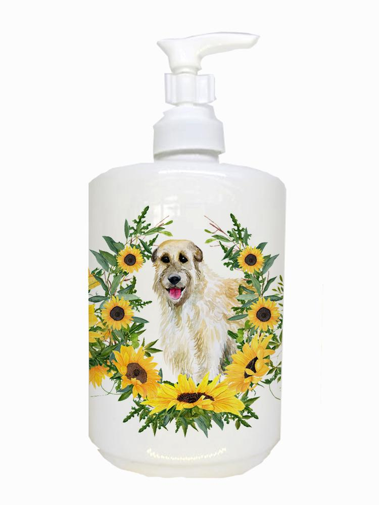 Buy this Irish Wolfhound Ceramic Soap Dispenser CK2862SOAP