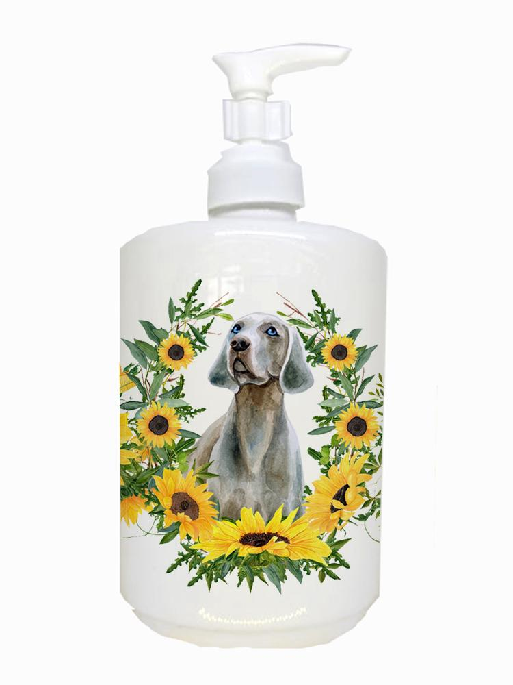 Weimaraner Ceramic Soap Dispenser CK2866SOAP by Caroline's Treasures